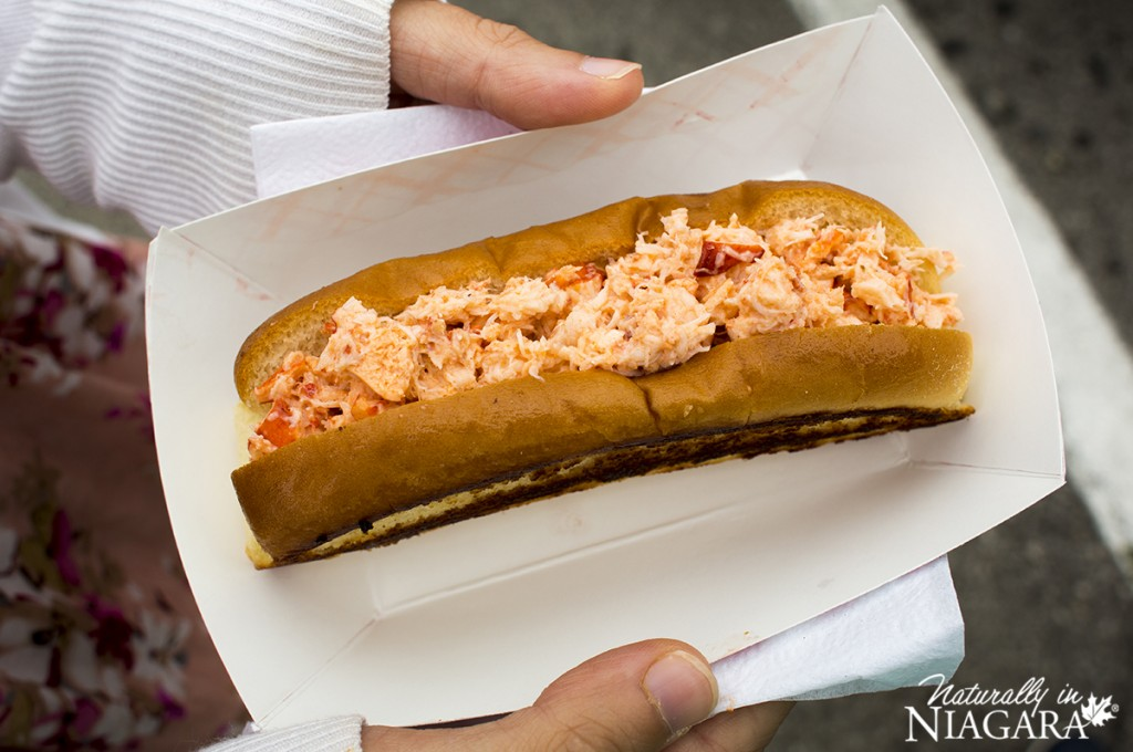 Insane lobster roll from Ourrr Lobster Shack