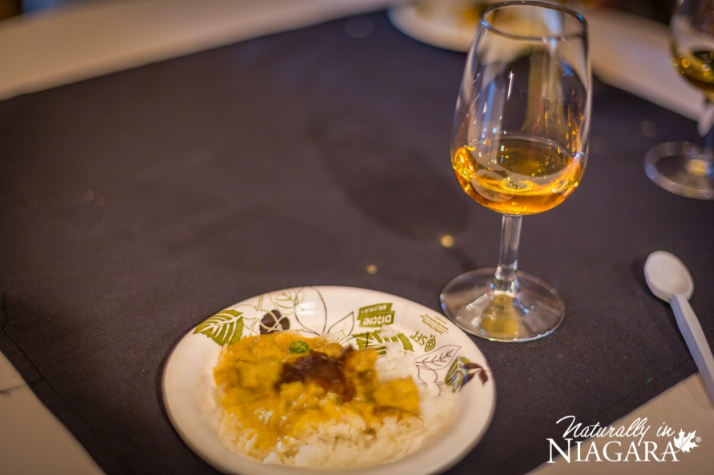 Butter Chicken and Basmati Rice with Riesling Icewine