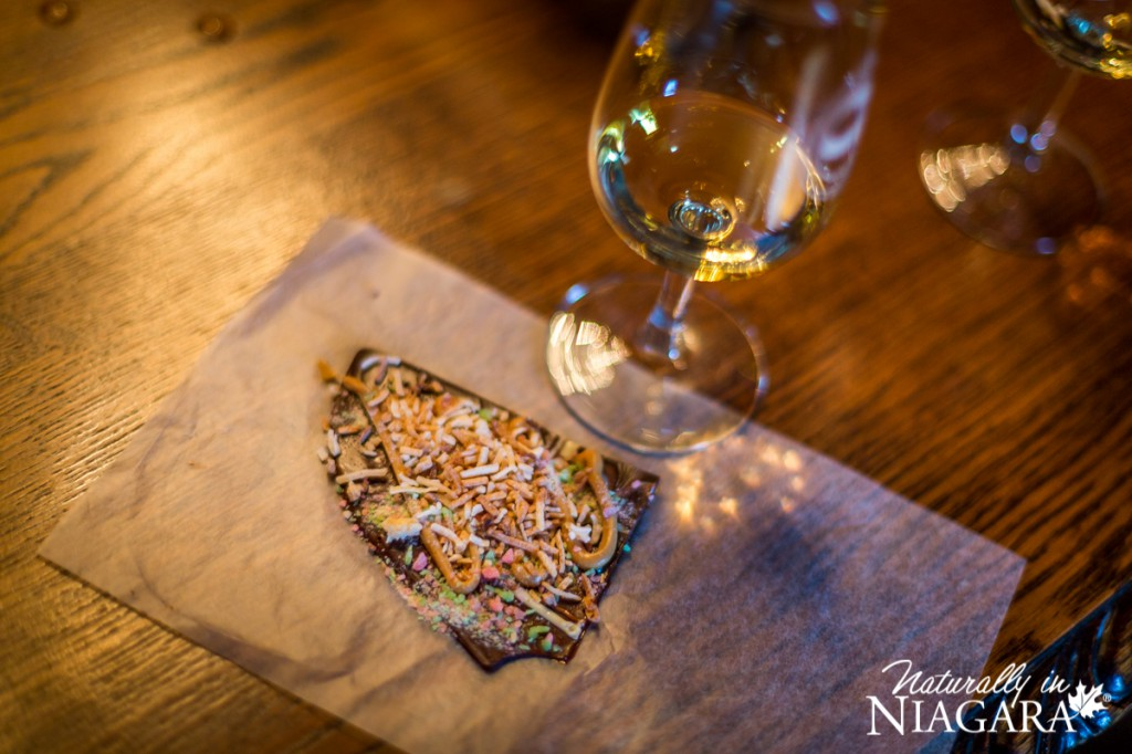 Peanut Butter and Coconut Chocolate Bark with Vidal Icewine