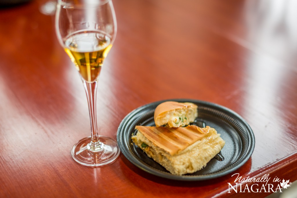 Toasted Apple, Pear and Brie Panini with Riesling Icewine