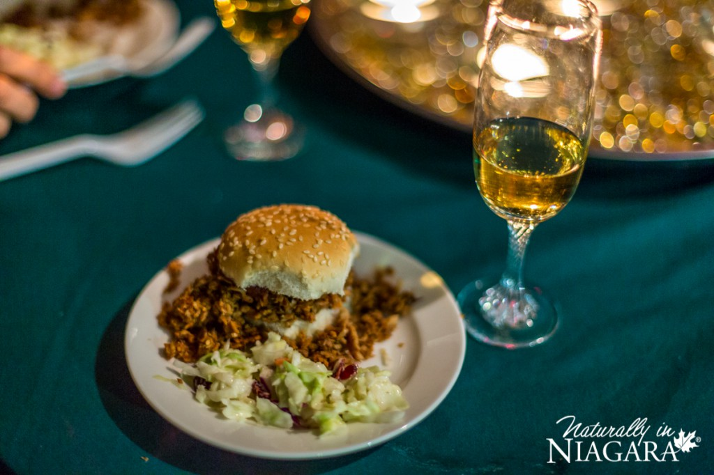 Apple Cranberry Pulled Pork Slider with Riesling Icewine